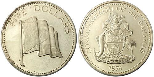 5 долларов 1974 Багамские Острова
