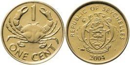 1 цент 2004 Сейшельские острова — Краб UNC