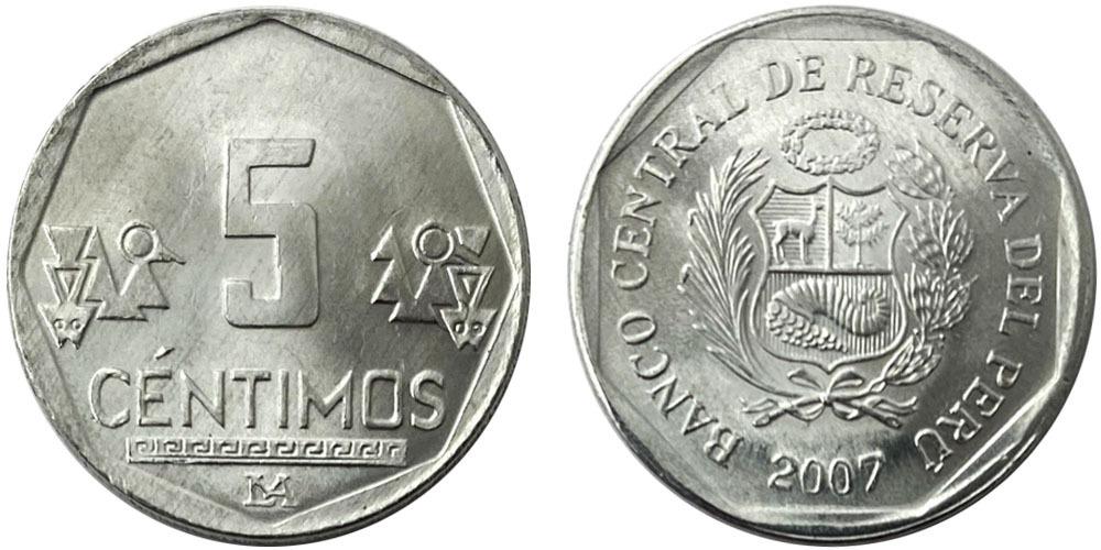 5 сентимо 2007 Перу UNC