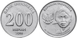 200 рупий 2016 Индонезия UNC