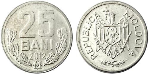 25 бани 2012 республики Молдова UNC