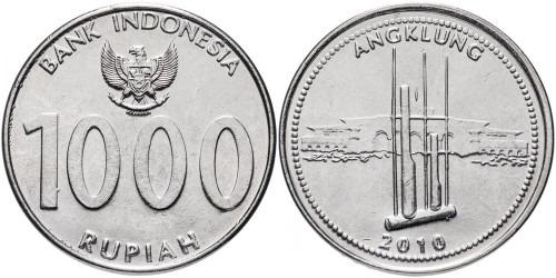 1000 рупий 2010 Индонезия — Angklung — музыкальный инструмент