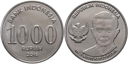 1000 рупий 2016 Индонезия