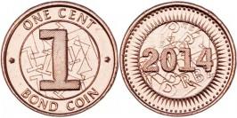 1 цент 2014 Зимбабве UNC