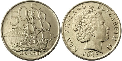 50 центов 2009 Новая Зеландия UNC