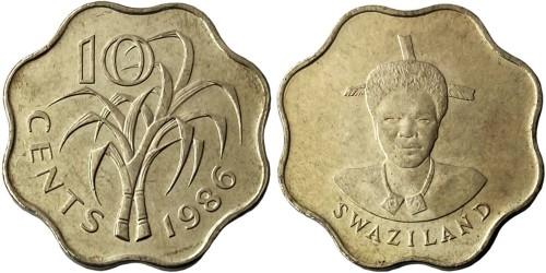 10 центов 1986 Свазиленд UNC