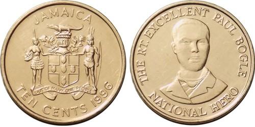 10 центов 1996 Ямайка