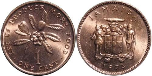 1 цент 1973 Ямайка