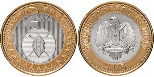 2 фунта 2015 Южный Судан UNC