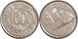 1000 крузейро 1992 Бразилия — Рыба Акара UNC