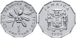 1 цент 1991 Ямайка