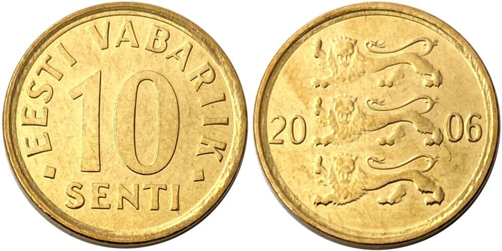 10 сентов 2006 Эстония