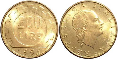 200 лир 1995 Италия