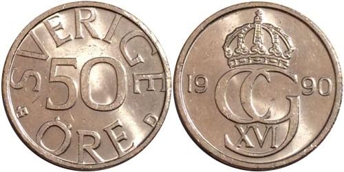 50 эре 1990 Швеция