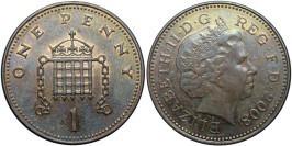 1 пенни 2008 Великобритания — Коронованная решетка с цепями