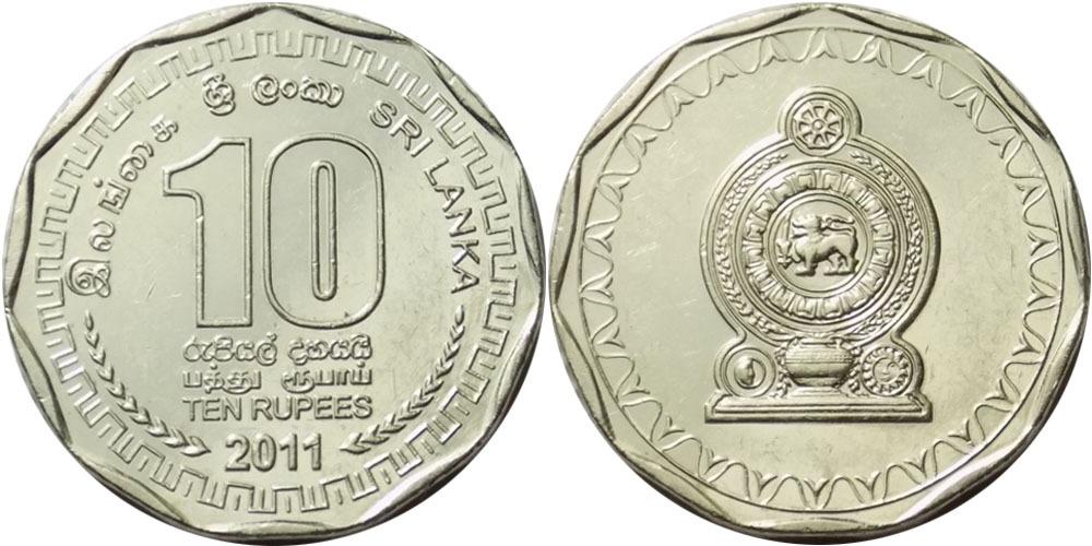 10 рупий 2011 Шри-Ланка