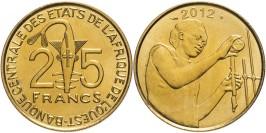 25 франков 2012 Западная Африка UNC