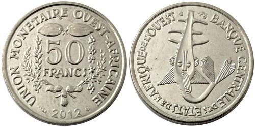 50 франков 2012 Западная Африка UNC