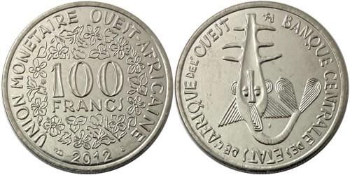 100 франков 2012 Западная Африка UNC