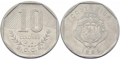10 колон 1985 Коста Рика