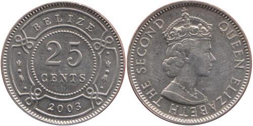25 центов 2003 Белиз