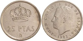 25 песет 1983 Испания
