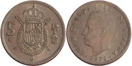 5 песет 1975 Испания — 78 внутри звезды