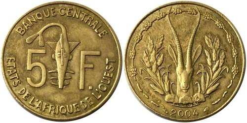 5 франков 2004 Западная Африка