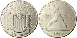 1 доллар 1992 D США — XXV летние Олимпийские Игры, Барселона 1992 — серебро №2