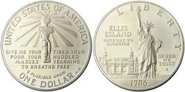 1 доллар 1986 P США — 100 лет Статуе Свободы — серебро