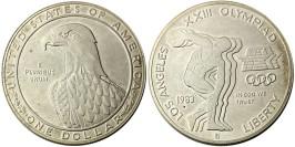 1 доллар 1983 P США — XXIII летние Олимпийские Игры — Дискобол — серебро