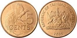 5 центов 2005 Тринидад и Тобаго — Райская птица