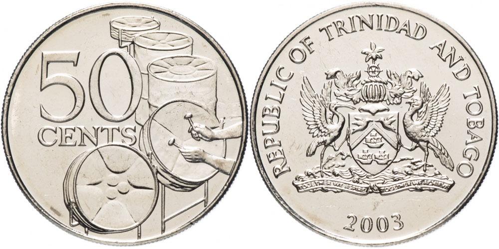50 центов 2003 Тринидад и Тобаго — Национальные стальные барабаны UNC