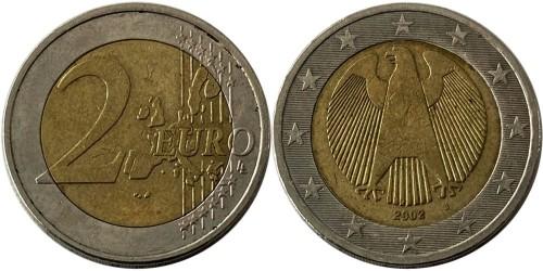 2 евро 2002 «J» Германия