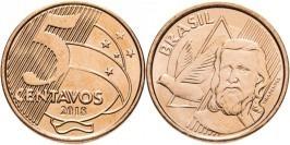 5 сентаво 2018 Бразилия UNC