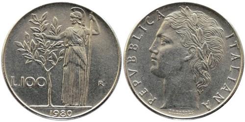 100 лир 1980 Италия
