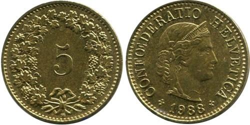 5 раппен 1988 Швейцария
