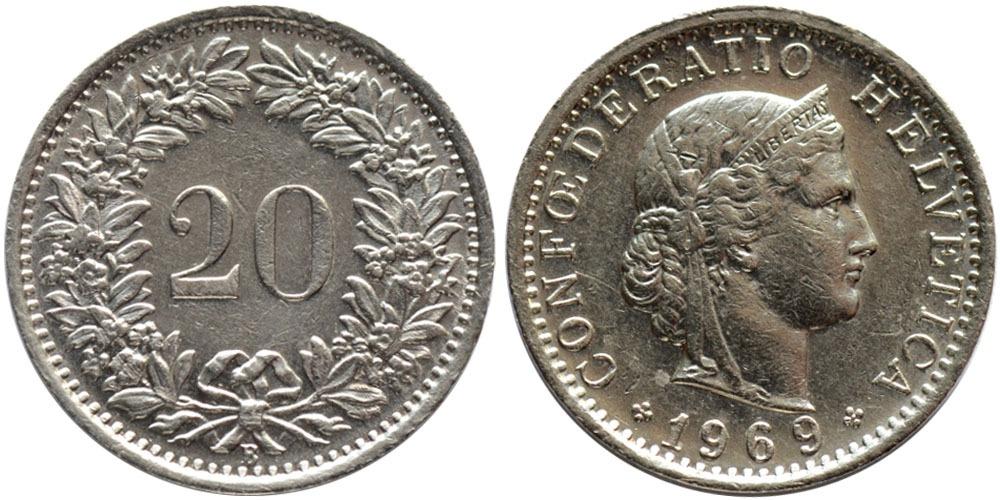 20 раппен 1969 Швейцария