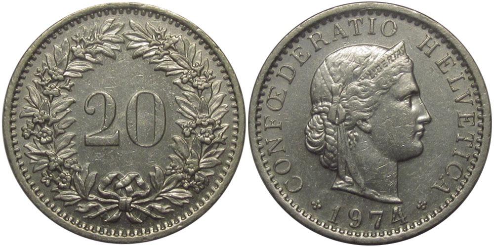20 раппен 1974 Швейцария
