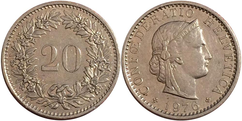 20 раппен 1976 Швейцария