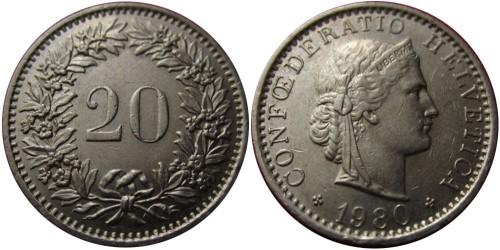 20 раппен 1980 Швейцария