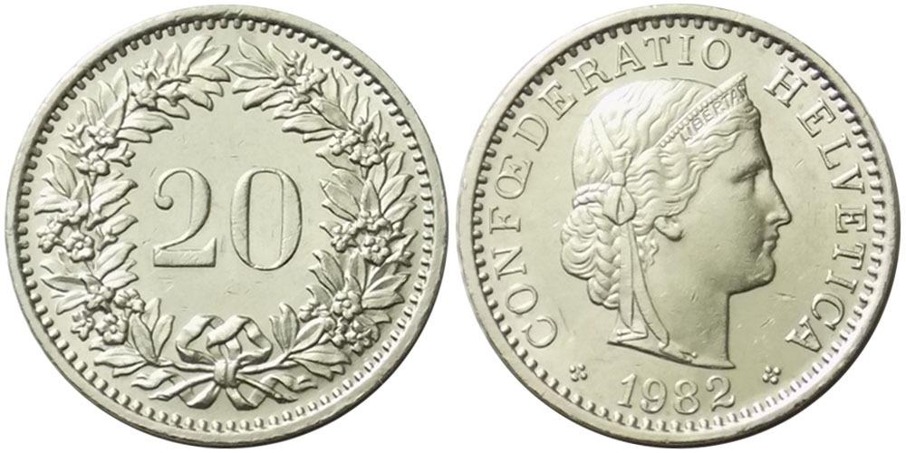 20 раппен 1982 Швейцария