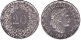 20 раппен 1987 Швейцария