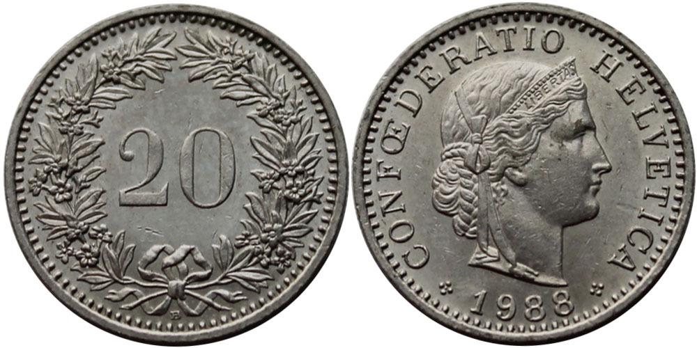 20 раппен 1988 Швейцария