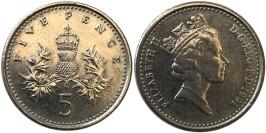5 пенсов 1991 Великобритания