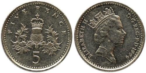 5 пенсов 1994 Великобритания