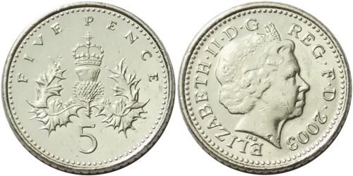 5 пенсов 2003 Великобритания