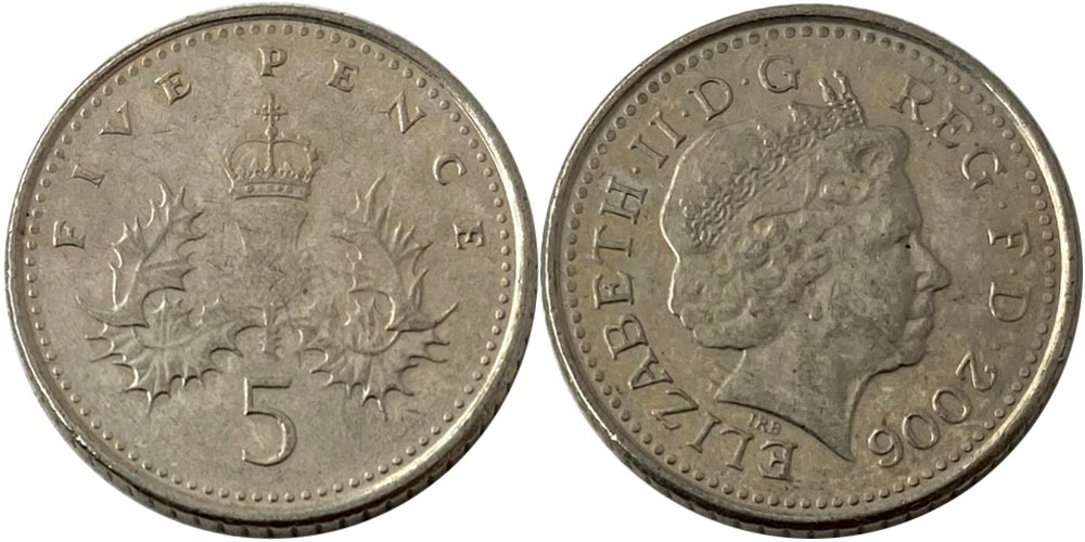 5 пенсов 2006 Великобритания