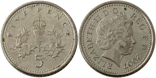 5 пенсов 2007 Великобритания