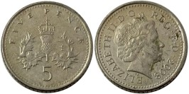 5 пенсов 2008 Великобритания — Коронованный чертополох